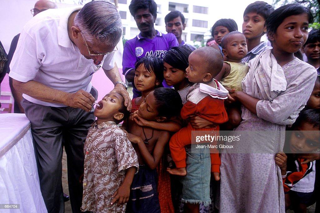 Polio Immunization Day in Bangladesh : News Photo