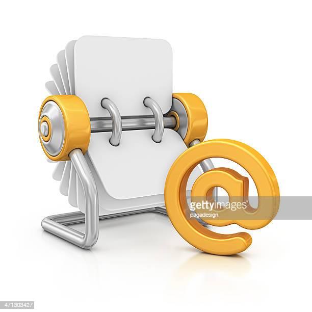 Fichier rotatif et «AU» Symbole