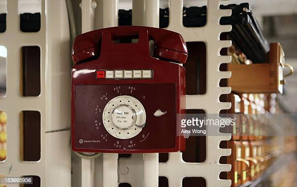 A rotary phone is seen in the Main Card Catalog Room at the Main Reading Room of the Library of Congress Thomas Jefferson Building October 8 2012 in...