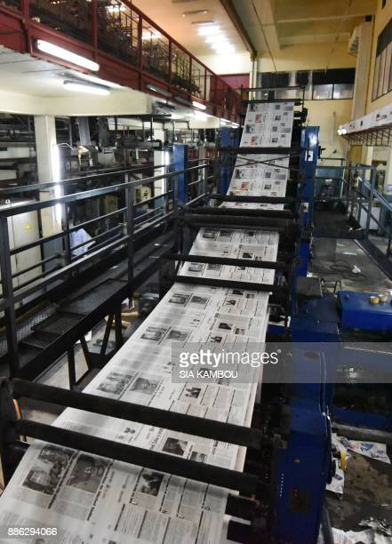 A rotary press is deserted by the employees of the Ivorian newspaper 'Fraternite Matin' during a strike to demand the resignation of CEO Venance...