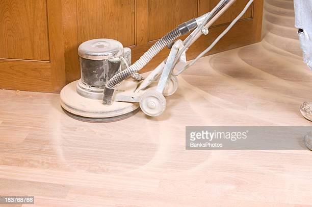 Rotary Sander on a New Hardwood Floor