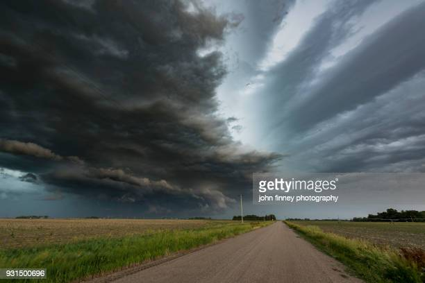 Rotating mesocyclone storm over the Great Plains of Nebraska. USA