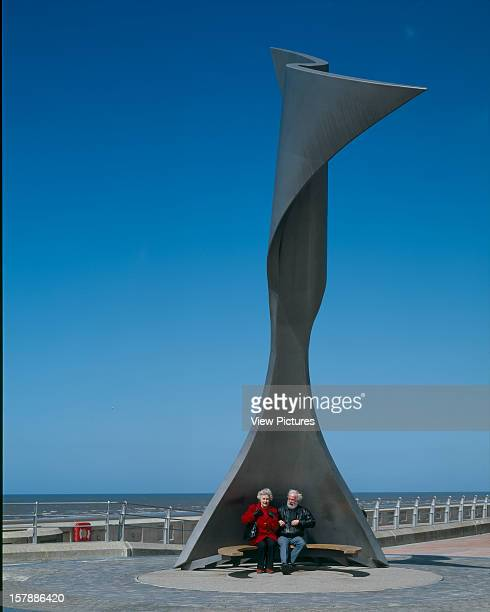 Rotating Wind Shelter Blackpool United Kingdom Architect Mcchesney Architects Rotating Wind Shelter Long View From The South