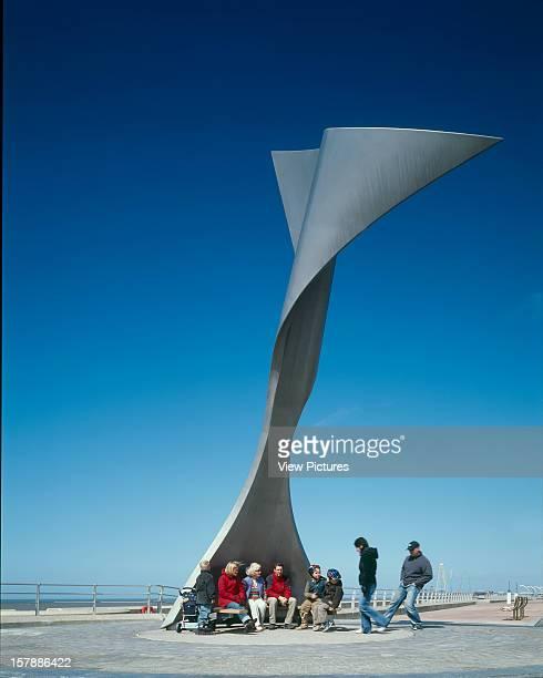 Rotating Wind Shelter, Blackpool, United Kingdom, Architect Mcchesney Architects, Rotating Wind Shelter In Use.