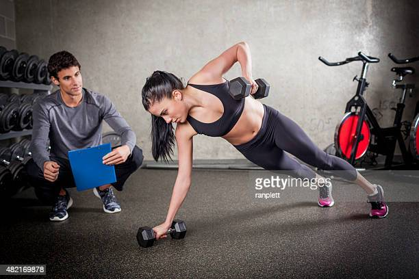 Rotational Pushups with Weights