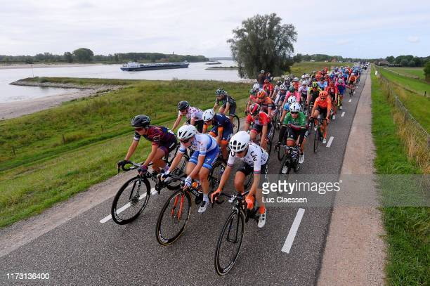 Rotem Gafinovitz of Israel and Team Canyon Sram Racing / Amy Pieters of The Netherlands and Boels Dolmans Cycling Team European Champion Jersey /...