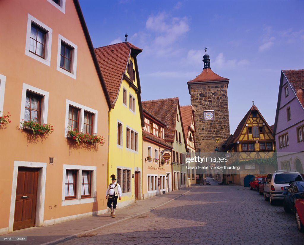 Rotenburg ob der Tauber, Bavaria, Germany, Europe : Foto de stock