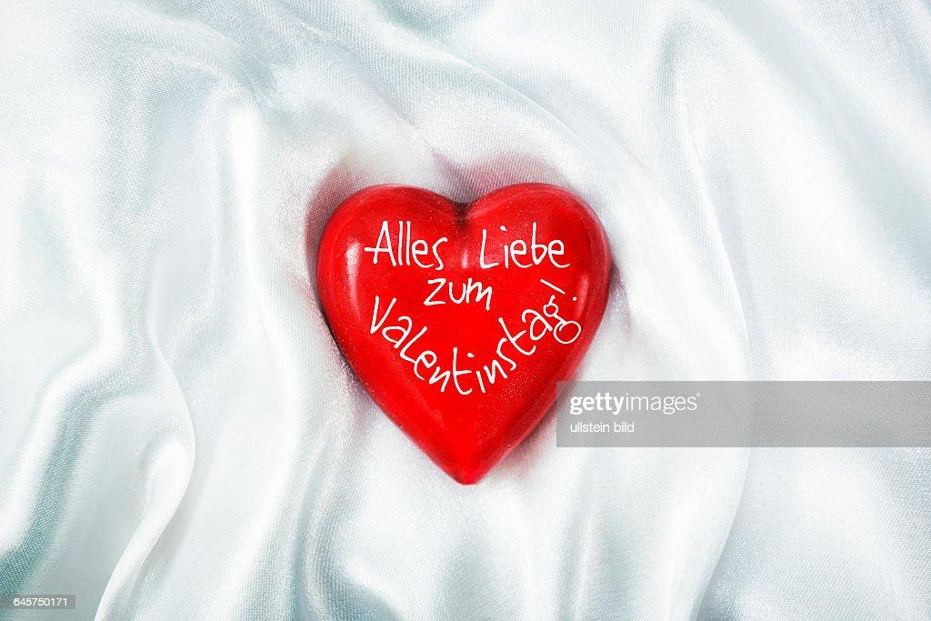 Rotes Herz Valentinstag