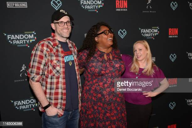 Roth Cornet Danielle Radford and Dan Murrell attend the Fandom Party at SDCC 2019 featuring RUN the first liveaction thriller by Cirque du Soleil at...