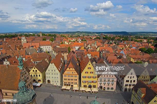 Rothenberg ob der Tauber Romantic Road Romantische Strasse Franconia Bavaria Germany Europe