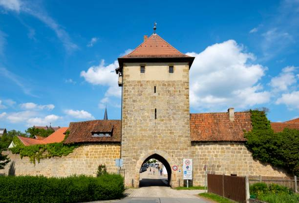 Rothenberger city gate, Sesslach, Upper Franconia, Franconia, Bavaria, Germany