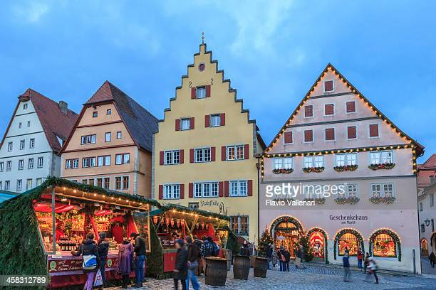 rothenburg ob der tauber at christmas, germany - rothenburg stock photos and pictures
