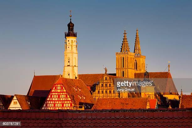Rothenburg ob der Tauber at sunrise