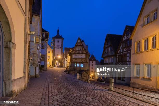 rothenburg ob der tauber. bavaria germany. - bavaria stock pictures, royalty-free photos & images