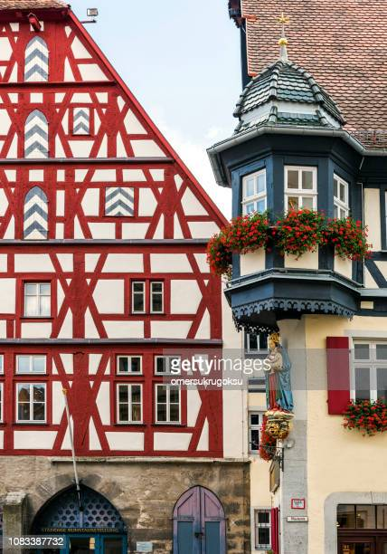 Rothenburg ob der Tauber with traditional German houses, Bavaria, Germany
