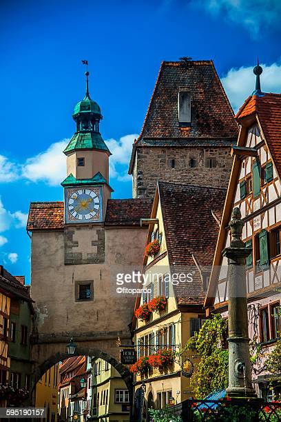 Rothenburg street and clock tower