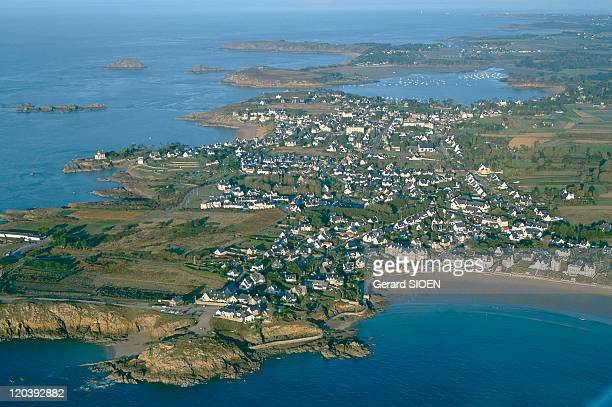Rotheneuf Cote d'Emeraude Brittany France Aerial view