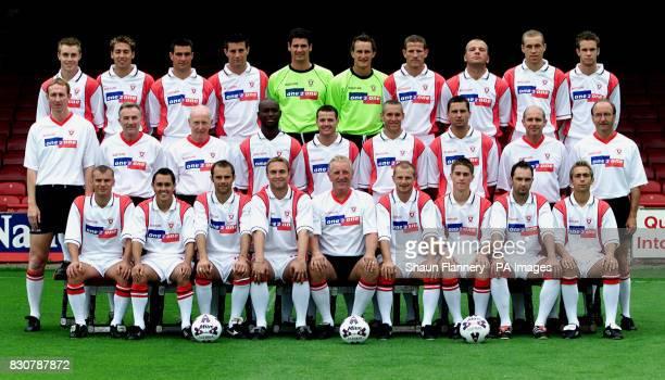 Rotherham FC 2001/2001 LR Chris Sedgwick Rob Scott Richard Barker Alan Lee Mike Pollitt Ian Gray Chris Swailes Guy Branston David Artell Andy...