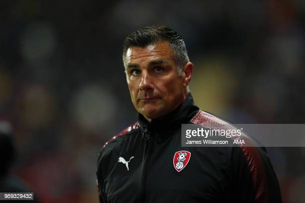 Rotherham United assistant manager Richie Barker during the Sky Bet League One Play Off Semi FinalSecond Leg between Rotherham United and Scunthorpe...