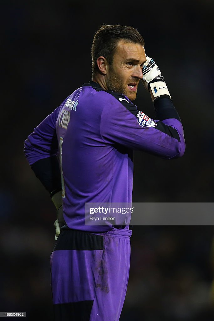 Rotherham United goalkeeper Lee Camp looks on during the Sky Bet Championship match between Brighton & Hove Albion and Rotherham United at Amex Stadium on September 15, 2015 in Brighton, England.