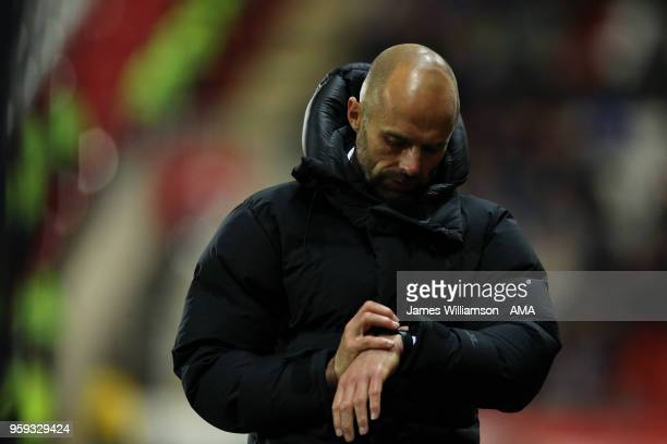 Rotherham United manager Paul Warne during the Sky Bet League One Play Off Semi FinalSecond Leg between Rotherham United and Scunthorpe United at The...