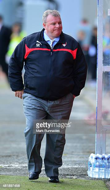 Rotherham United manager Steve Evans during a pre season friendly match between Patrick Thistle FC and Rotherham United at Firhill Stadium on July 25...