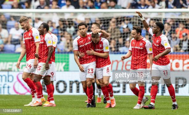 Rotherham United's Ben Wiles celebrates scoring his side's second goal during the Sky Bet League One match between Bolton Wanderers and Rotherham...