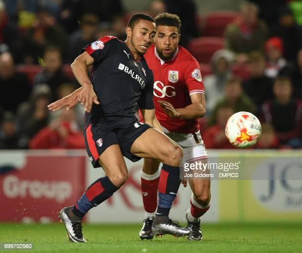 Rotherham United's Grant Ward and Bristol City's Scott Golbourne battle for the ball