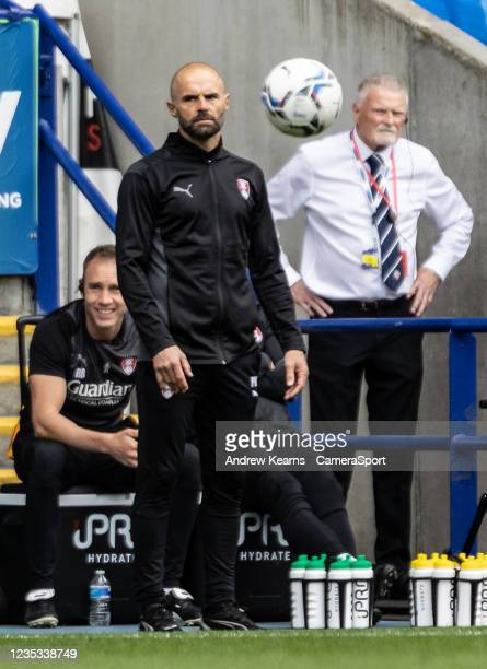 Rotherham United's manager Paul Warne looks on during the Sky Bet League One match between Bolton Wanderers and Rotherham United at University of...