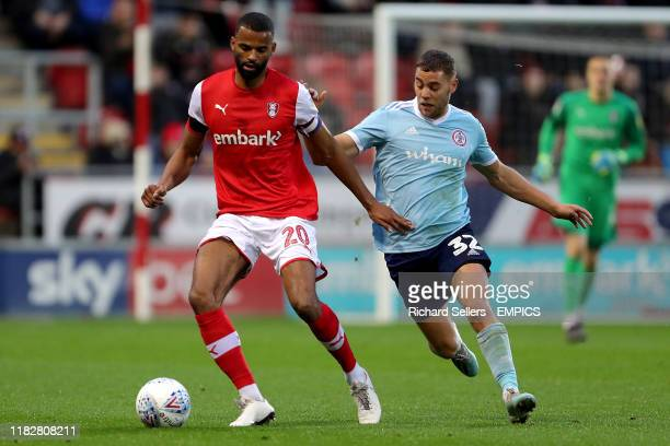 Rotherham United's Michael Ihiekwe and Accrington Stanley's Dion Charles Rotherham United v Accrington Stanley - Sky Bet League One - AESSEAL New...