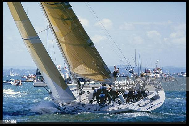 Rothmans in action during the Whitbread round the world yacht race Mandatory Credit Mike Powell/Allsport