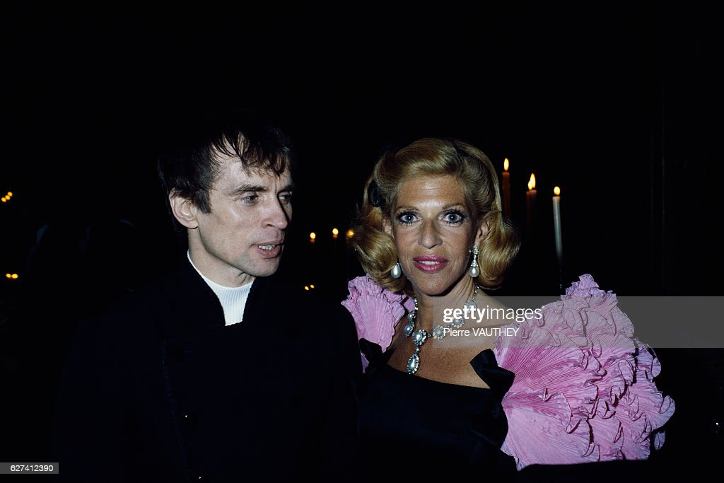 Dancer Rudolf Noureev and Marie-Helene de Rothschild : News Photo