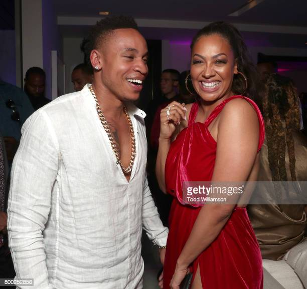 Rotimi Akinosho and La La Anthony attend STARZ Power Season 4 LA Screening And Party at The London West Hollywood on June 23 2017 in West Hollywood...