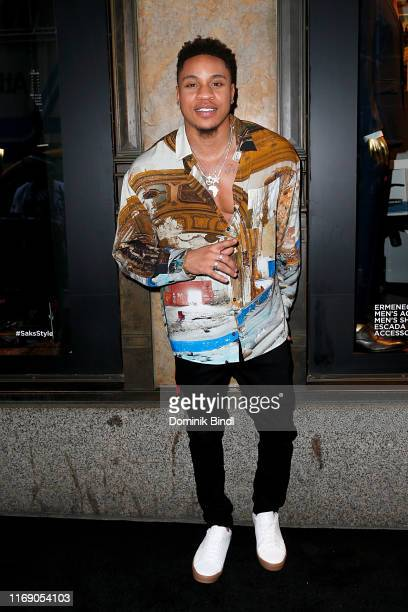 Rotimi Akinosho attends as Power celebrates its final season with a Saks Fifth Avenue window display on August 19 2019 in New York City