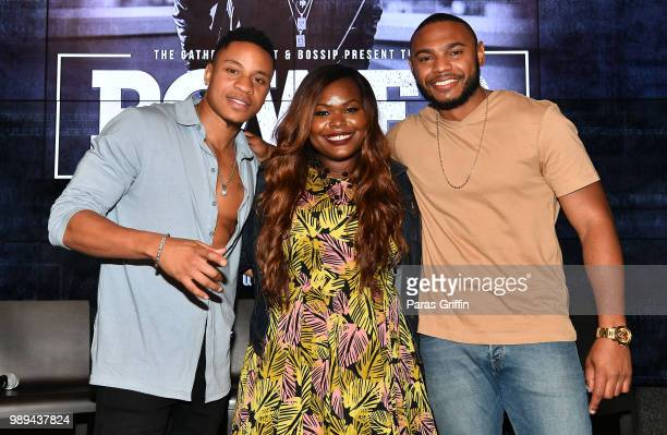 Rotimi Akinosho Danielle Canada and Aaron Del Ro attend The Gathering Spot x Bossip presents Power Season 5 Conversation with Rotimi at the Gathering...