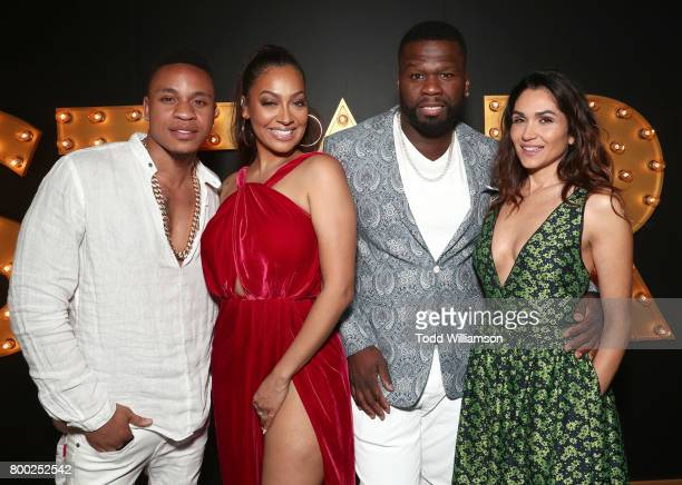 Rotimi Akinosho La La AnthonyCurtis 50 Cent Jackson and Lela Loren attend STARZ Power Season 4 LA Screening And Party at The London West Hollywood on...