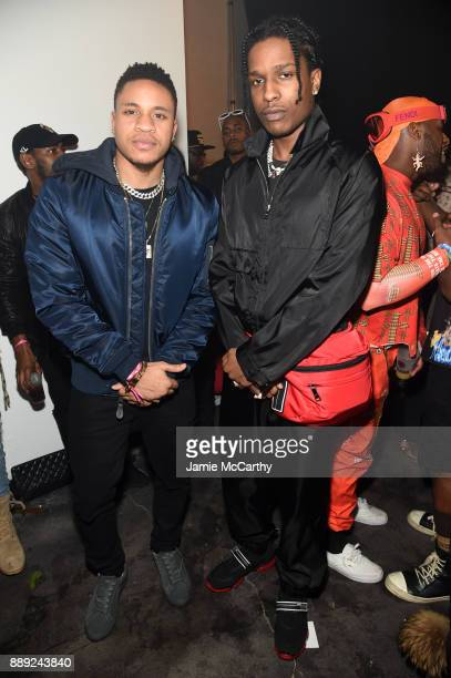 Rotimi and A$AP Rocky attend BACARDI Swizz Beatz and The Dean Collection bring NO COMMISSION back to Miami to celebrate 'Island Might' at Soho...