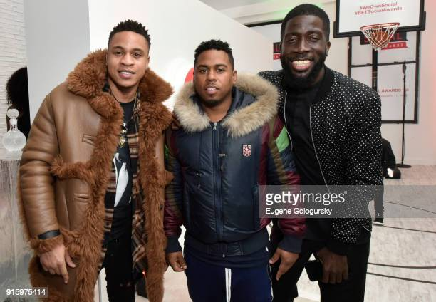 Rotimi and Bobby Valentino attend the BET NETWORKS Hosting of the Opening Night Reception For THE MUSEUM OF MEME In Celebration Of THE BET SOCIAL...