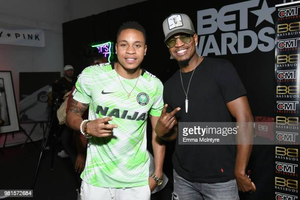 Rotimi and NeYo attend the 2018 BET Awards Gift Lounge on June 22 2018 in Los Angeles California