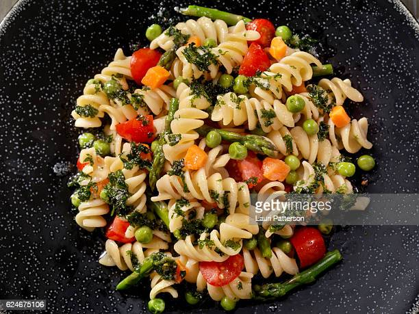 Rotini Primavera in a Browned Butter and Garlic Sauce
