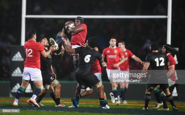 Rotorua New Zealand 17 June 2017 Maro Itoje of the British Irish Lions during the match between the Maori All Blacks and the British Irish Lions at...