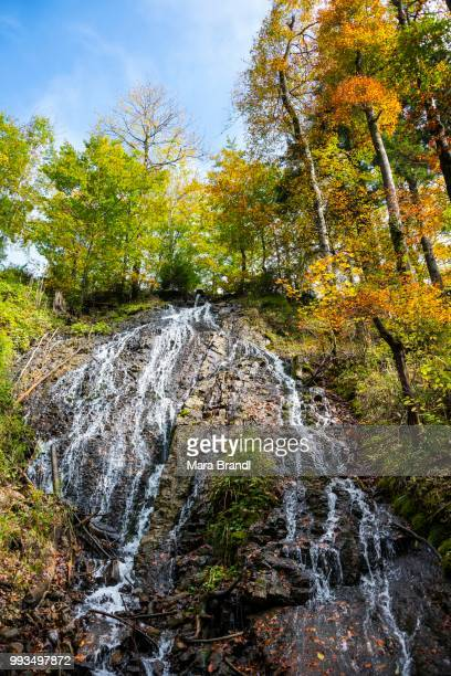 Rottach waterfall in the autumn, Rottach-Egern, Tegernsee valley, Bavaria, Germany