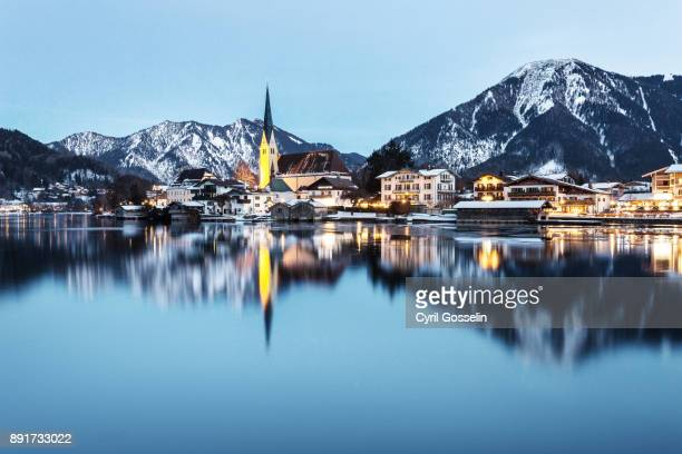 Rottach-Egern and Tegernsee during a winter night