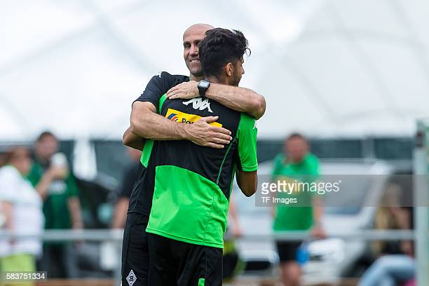 Rottach-Egern, Deutschland, , Trainingslager, Borussia Moenchengladbach Mahmoud Dahoud Cheftrainer Andre Schubert