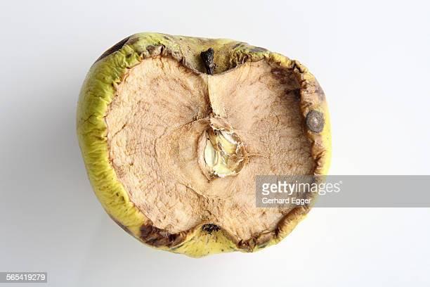 Rotten apple halve