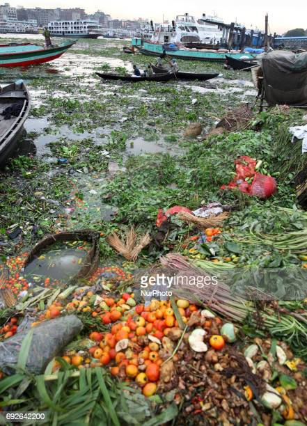 A Rotten fruits dumps on the riverbank of Buriganga on the eve of World Environment Day in Dhaka Bangladesh 05 June 2017 A large swathe of the...