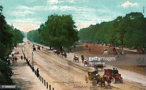 Rotten Row Hyde Park London' circa 1910 Rotten Row is a broad track running along the south side of Hyde Park London Rotten Row was established by...