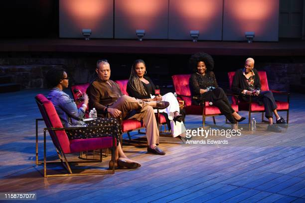 Rotten Tomatoes Editor Jacqueline Coley actors Laurence Fishburne Nia Long and Tyra Ferrell and director Justice Singleton attend the SAGAFTRA...