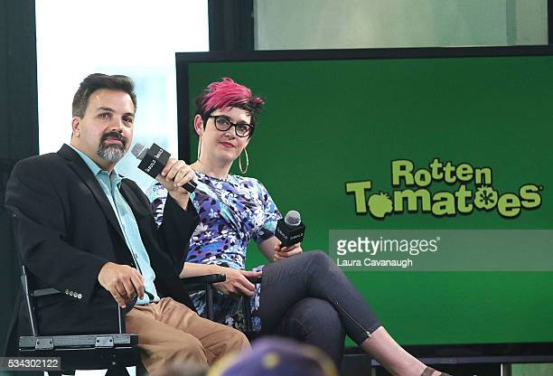 Rotten Tomatoes' EditorinChief Matt Atchity Senior Editor Grae Drake attend AOL Build Speaker Series at AOL Studios In New York on May 25 2016 in New...