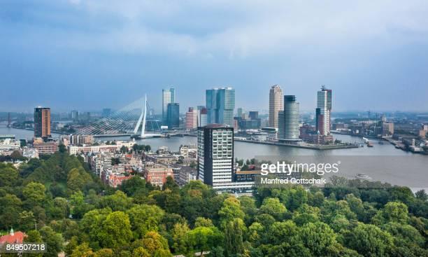 rotterdam aerial view - rotterdam stock-fotos und bilder